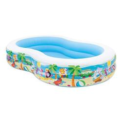 """Intex Swim Center Paradise Inflatable Pool 103"""" X 63"""" X 18"""" For Ages 3+"""