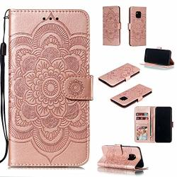 Wallet Cfrau Case With Black Stylus For Huawei Mate 20 Pro Beautiful Mandala Sunflower Embossed Pu Leather Magnetic Flip Stand S