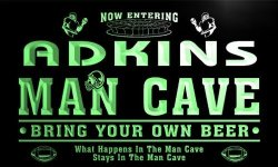 ADV PRO QA1394-G Adkins Man Cave Football Game Room Bar Neon Beer Sign