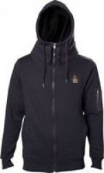Difuzed Assassin& 39 S Creed Origins Crest Double Layered Hoodie Blacksmall