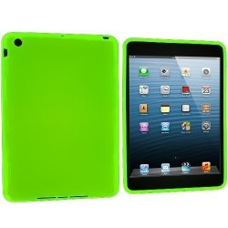 IMPORTER520 Neon Green Pink New Premium Silicone Gel Soft Skin Case Cover Fit For Apple Ipad MINI 16GB 32GB 64GB