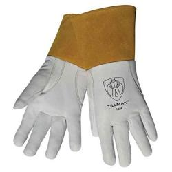 """Tillman 1338 Top Grain Goatskin Tig Welding Gloves With 4"""" Cuff XL"""