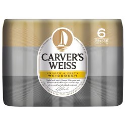 CARVERS WEISS - 440ML Can 6 Pack   R   Beer   PriceCheck SA
