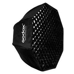 "Godox Sb-ue 47"" 120CM Umbrella Octagon Softbox Reflector With Honeycomb Grid For Speedlight Flash Bowens Mount"