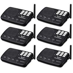 Wireless Intercom System Hosmart 1 2 Mile Long Range 7-CHANNEL Security Wireless Intercom System For Home Or Office 2018 New Vesion 6 Stations Blac