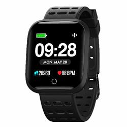 SMART WATCH For Android Ios Phone Waterproof Sport Fitness Tracker With All-day Heart Rate Sleep Monitor Message Call Reminder Ultra-long Batter Life Bluetooth Smart