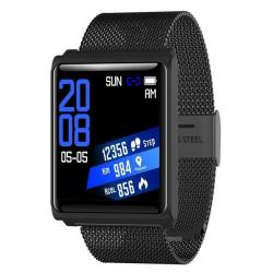 N98 Smart Watch IP67 Waterproof Support Blood Pressure Heart Rate Monitor Fitness Tracker Clock Smartwatch For Ios Android Black Metal