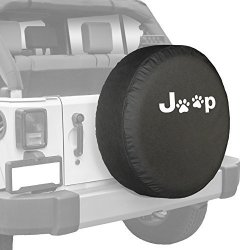 Boomerang - 35 Soft Tire Cover For Use With Jeep Wrangler Jk 2006-2018 - Paw Prints
