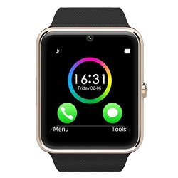 Bluetooth Smart Watch With Heart Rating Pedometer Sleep Monitoring Sd Card Sim Card Slot For Android