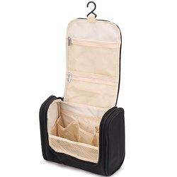 TFCFL Travel Toiletry Bags Hanging Toiletries Bag Multi Pockets Black
