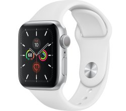 Apple Watch Series 5 40MM Silver - White Sport Band