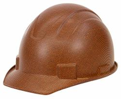 Troy Safety RK-HP34 Brown Hard Hat Cap Style With 4 Point Ratchet Suspension Brown