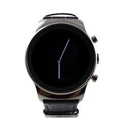 Round Sanoxy-lux-sim-watch-gnm Luxury Steel Smart Phone Watch Gunmetal