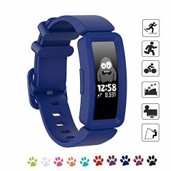 Matop Silicone Band Compatible For Fitbit Ace 2 For Kids 6+ Soft Replacement Band Accessories Sport Strap For Boys Girls Wristband For Fitbit Ace 2 Activity Tracker Blue 2