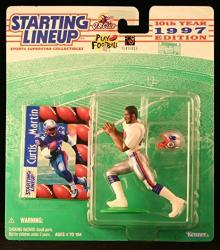 Curtis Martin New England Patriots 1997 Nfl Starting Lineup Action Figure & Exclusive Nfl Collector Trading Card