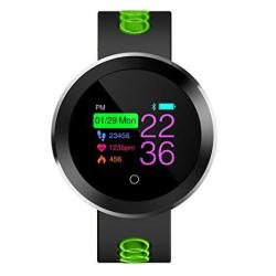 Smart Watch IP68 Waterproof Fitness Activity Tracker With Heart Rate Monitor Gps Oled Intelligent Watch Compatible With Iphone & Android Green