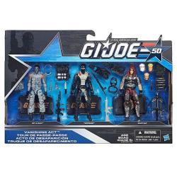 G. I. Joe 50TH Anniversary Vanishing Act Action Figure Set Hit & Run Torpedo And Zartan 3.75 Inches