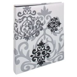 Henzo - Baroque Photo Album - Black Pages - Traditional Paste-in - White