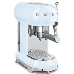 Smeg 50S Style Pastel Blue Retro Espresso Coffee Machine ECF01PBSA