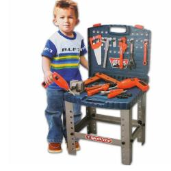 Override Diy Electric Plastic Toy Mechanic Tool Box Set For Children Playing Tools