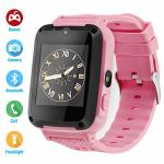 ZWD Kids Phone Smartwatch Child Games 1.54 Inch Touch Screen Two-way Call HD Camera Bluetooth Pink