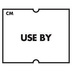 DayMark Date Coder Freezable Label Use By For DM4 Speedymark 20 2-LINE Marking Gun White Pack Of 8 Rolls