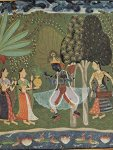 Lais Jigsaw Indian Painter Around 1660 - R Gm L Series Scene: Vasanta R Gin Spring Krishna Dances To The Music Of Two Girls