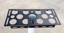 """Shur-tite 14GA Steel Mailbox Bracket For 2-3 8"""" Round Post"""