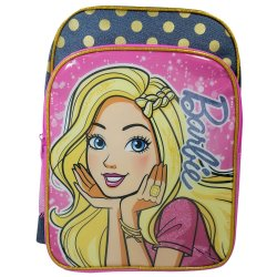 Barbie Lrg Denim Backpack + Pencil Case