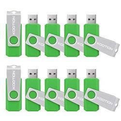 KOOTION 10PCS 2GB USB20 Flash Drive Thumb Memory Stick USB Drives Green