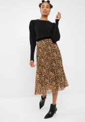 9170a0820af1 Deals on Dailyfriday Sunray Pleated Midi Skirt - Animal Print ...