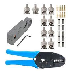 Eagles 1SET Coax Rf bnc Crimp Tools For RG58 RG59 RG6 With 10PCS Bnc Plug Crimp Connector Set