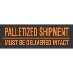 """Generic DL3161""""MUST Be Delivered Intact"""" Labels 3"""" X 10"""" Fluorescent Orange"""