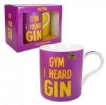 Gin Tribe Collective - Novelty Coffee Mug Cup - Gym I Heard Gin Mug - Gift Tribe