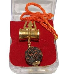Siddhratan Feng Shui Shiv Shakti Kawach Pendant With Rudraksha For Health Wealth And Luck Religious Decorative Indian Handicrafts