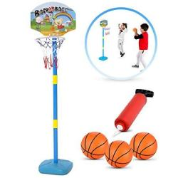 Britenway Kids Basketball Hoop Play Set Adjustable Height 25-52 Inches Ideal For Toddlers Kids & Adults Ages 3 Years And Up Indo