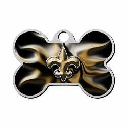 Shsh New Orleans Saints - Personality Dog Tag Pet Brand Personalized Customization Id Bone-shaped Double-sided Printing Logo Symbol Phone Number