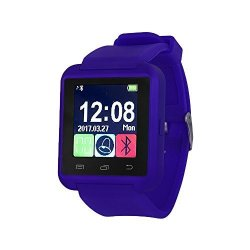 Alltrum Smart Watch Touch Screen Anti Lost Wrist Watch Call Answering Dialing Notifications For Android Phones And Iphone Alarm Calendar Sleep Monitor Etc. Darkblue