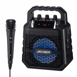Portable Pa Speaker System Archeer Karaoke Speaker With Microphone Karaoke Machine Voice Amplifier With Light For Kids & Adults Ideal For Party Singing Etc.