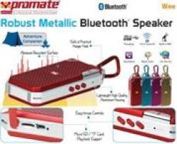 Promate Wee Robust Metallic Bluetooth Speaker - Gold Retail Box 1 Year Warranty