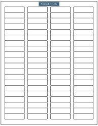 Blank Labels 2000 Brand Return Address Labels - 25 Sheets Of Word Template Size Return Address Labels. Laser And Ink Jet Printer Compatible. 25 Sheets