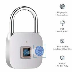 Fingerprint Padlock Keyless Gym Locker Lock For Sports School & Employee Locker Suitcase No App Smart Lock