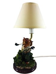 OWL Bear Table Lamp Bear Going Golf Desk Lamp Golf Tee Lovers