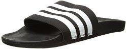 Adidas Men's Adilette Comfort Slide Sandal White black 12 M Us