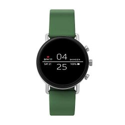 Skagen Connected Falster 2 Stainless Steel And Silicone Touchscreen Smartwatch Color: Green Model: SKT5114