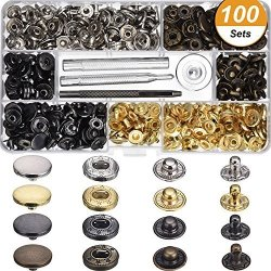 Clasps BCP 10 Sets 18mm Sew in Magnetic Bag Clasps Plum Blossom Bag Button Snaps Smoke Black Great for Sewing Craft Clothing Bag