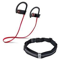 d08ddc96481 Bluetooth Headphones, MOTIV8TION Workout Headphones Ear Buds Bluetooth +  Runners Belt flipbelt- Active Noise Cancelling Earbuds