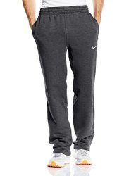 Nike Club Swoosh Men's Fleece Sweatpants Pants Classic Fit Small - Challenge Charcoal Grey white