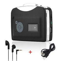ASHATA Cassette Player USB Cassette Capture Plug and Play Portable Cassette Tape to MP3 Converter USB Flash Drive Capture Audio Music Player Convert Tapes to USB Flash Drive Directly