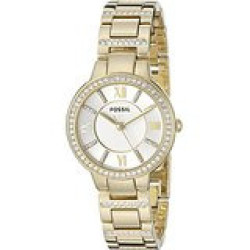 Fossil Women's Es3283 Virginia Gold-tone Stainless Steel Watch With Link Bracelet